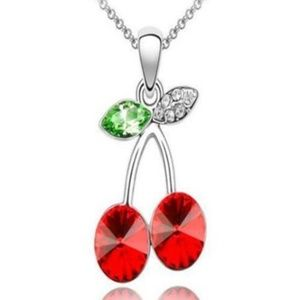 Crystal Cherries Necklace